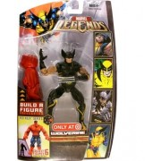 Marvel Legends Build A Figure Collection Red Hulk Series 6 Inch Tall Action Figure Variant Wolverine In Black Costume Plus Red Hulks Right Arm