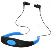 Al aire libre impermeable reproductor de mp3 FM radio auriculares con 8GB de memoria - azul