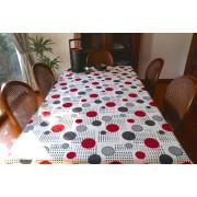 Mantel rectangular de tela repelente para líquidos con forro impermeable incorporado Diseño Randy