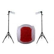 Zestaw oświetleniowy bezcieniowy - 2x600W + namiot 60cm + 2x statyw 230cm