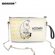 EXCELSIOR Lovely Cartoon Moomin Family Shoulder Bag Mini Cell Phone Pocket Small Handbag Jelly Messenger Bag 4 Colors sac a main