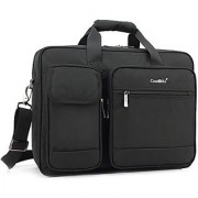 CoolBell 17.3 Inch Laptop Briefcase Protective Messenger Bag Nylon Shoulder Bag Multi-functional Hand Bag For Laptop / Ultrabook / Tablet / Macbook / Dell / HP / Men/Women/Business (Black)
