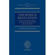 The Rome Ii Regulation by Professor Andrew Dickinson