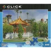 Mega Puzzles - CLICK- 500 Piece Puzzle - Pagoda at Mission Inn Riverside CA