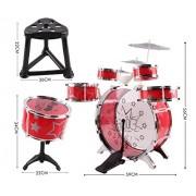 Kids Drum Set Children's 13 PC Musical Instrument Drum Play Set w/ 6 Drums