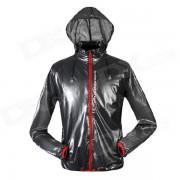NUCKILY NY0920 Ultrathin Outdoor Sports Anti-UV Water Resistant Jacket Coat - Deep Grey (Size M)