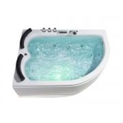 Whirlpool Doppel Badewanne Palermo LINKS für 2 Personen mit 15 Massage Düsen ...