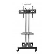 Stand TV podea Blackmount T20 Premium CROMAT 32''-60'' inaltime reglabila 150 cm - 178 cm