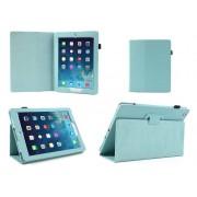 Apple iPad Mini 1 / 2 / 3 - Leather Book Cover Flip Hoes voor bescherming voor- en achterkant - Kleur Aqua