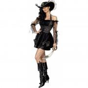 Sexy zwarte piraten jurk