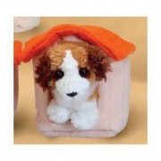 """St Bernard With Doghouse Magnet 2.5"""" By Fuzzy Town"""