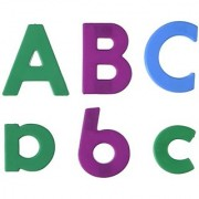 School Smart Regular Magnetic Letters And Numbers Set - 1 1/2 Inches - Set Of 126 - Multiple Colors