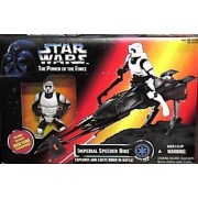 Star Wars Power of the Force Imperial Speeder Bike with Biker Scout Action Figure by Hasbro