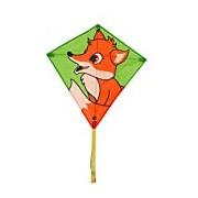Invento 100125 Eddy Fox, AB 5 Jahren, 68 x 68 cm And 2 m Line Children's Kite Dragon Kite Tails Ripstop Polyester 2-5 Beaufort