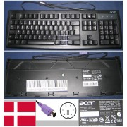 Clavier/Keyboard Qwerty Danois / Danish Pour KB-2971 KB2971, KB.KBP03.330, KBKBP03330, Port connecteur/ connector PS2, Noir / Black, EAN: 4054318247691