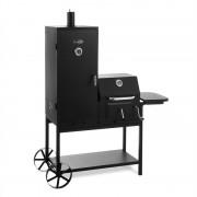 Klarstein Fleischbrocken Holzkohlegrill Smoker Räucherofen BBQ-Grill schwarz