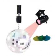 Party Set - MIRROR DISCO BALL Palla a Specchio con Mini Spot