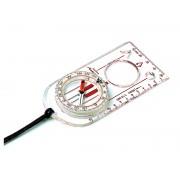 ARROW-30 Linealkompass, 360-Grad-Einteilung, schnell eindrehende Kompassnadel, Lupe, Millimeterskala