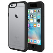 Amzer Full Body Hybrid Case with Built-In Screen Protector for iPhone 6/6s - Retail Packaging - Black