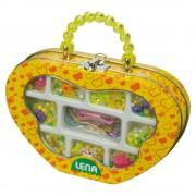 Lena Gyöngyfűző készlet, sárga táskában