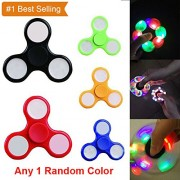 Fidget Spinner with Light Hand Spinner Ultra Speed Tri-Spinner Toy - Colours May Vary