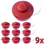 Nemaxx Nylon Thread Spool with Tip-Automatic Double Thread Head for Cutting Grass for Petrol Motorsense