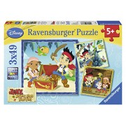 Ravensburger Jake and the Neverland Pirates: Jakes Pirate World Puzzles in a Box (3 x 49 Piece)