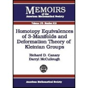 Homotopy Equivalences of 3-Manifolds and Deformation Theory of Kleinian Groups by Richard D. Canary