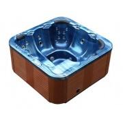 Whirlpool Outdoor Whirlpool Hot Tub Spa Troja mit 44 Massage Düsen + Heizung + Ozon Des...