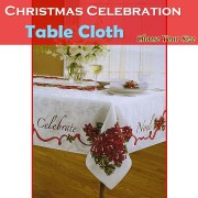 Christmas Tablecloth Celebration Rectangle Choose Your Size