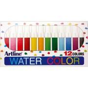Watercolor marker ARTLINE 300, corp plastic, varf rotund 2.0mm, 12 culori/set - asortate