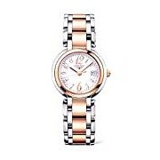 Longines Primaluna Women's Quartz Watch with Mother of Pearl Dial Analogue Display and Rose Gold Plated Stainless Steel Bracelet L81125836