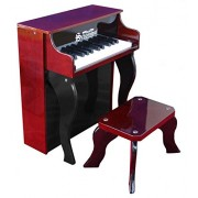 Schoenhut - Piano verticale Elite giocattolo a 25 tasti, in mogano, colore: nero