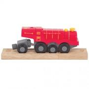 Bigjigs Toys Rail Big Steam Locomotive (4) Train, Red