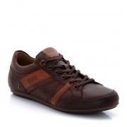 "LEVI'S Flache Sneakers ""Nelson"", Leder, Schnürung"