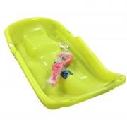 Kinder slee van plastic geel