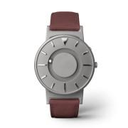Ceas de mână tactil unisex EONE Bradley cu curea grena de piele acoperită cu textil