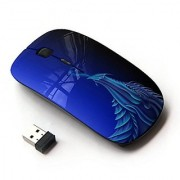 X-MOUSE M-3009600 Wireless Mouse - Blue Dragon