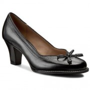 Clarks Półbuty CLARKS - Bombay Lights 203067434 Black Leather