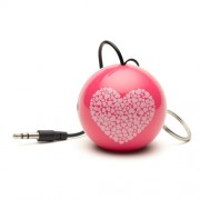 Boxa portabila KitSound Trendz Mini Buddy Heart, KSNMBHT, Roz