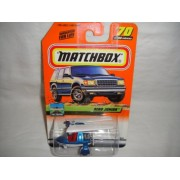 MATCHBOX #70 OF 100 AIR TRAVEL SERIES BLUE AND WHITE AERO JUNIOR DIE-CAST COLLECTIBLE