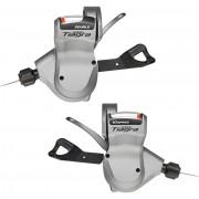 Shimano Tiagra SL-4600/4603 Coppia leve cambio 2x10 velocità argento Coppia leve cambio