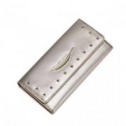 NUCELLE Długi portfel z piórkiem Złoty