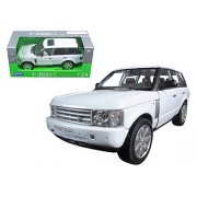 2003 Land Rover Range Rover White 1 24 by Welly 22415