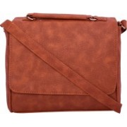 ANICKS Women Orange PU Sling Bag