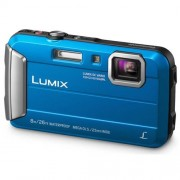 Fotoaparát Panasonic DMC-FT30EP-A, 16Mpx, 4x zoom 25mm OIS, HD, vodotesný 8m, modrý