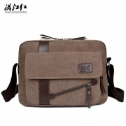 2017 New Men's Fashion Business Travel Shoulder Bags Men Messenger Bags Canvas Briefcase Men Bag Free Delivery 1294