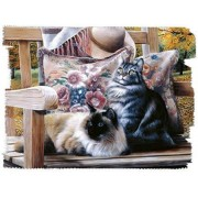Sit A Spell 1000 Piece Jigsaw Puzzle By Kevin Daniels Cats, Siamese Cat