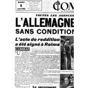 Fac Similé : Combat De La Resistance A La Revolution N.286 8 Mai 1945