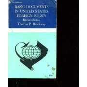 Basic Documents In United States Foreign Policy